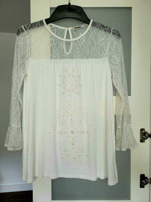 Desigual Camiseta estampada blanco