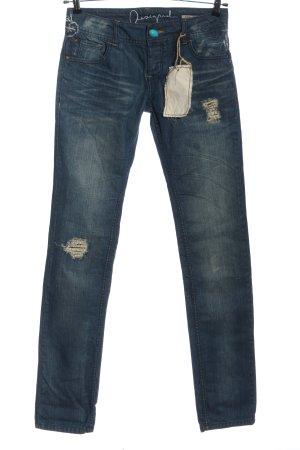 Desigual Slim Jeans blau Casual-Look