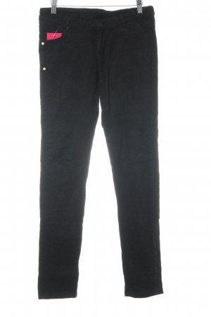 Desigual Slim Jeans schwarz Biker-Look