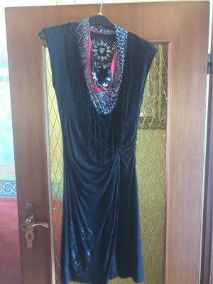Desigual Kopertowa sukienka czarny Wiskoza
