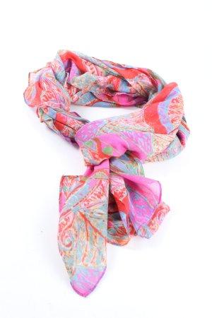 Desigual Sommerschal blau-pink abstraktes Muster Casual-Look
