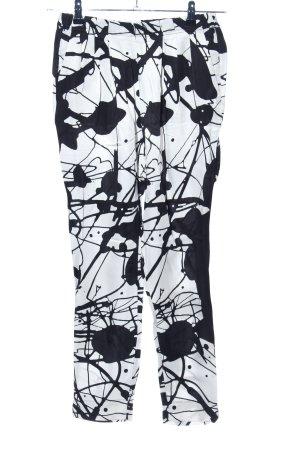Desigual Stoffhose weiß-schwarz abstraktes Muster Casual-Look