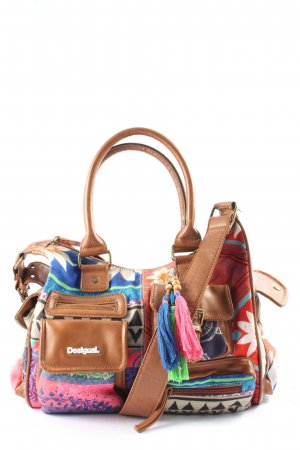 Desigual Canvas Bag flower pattern casual look
