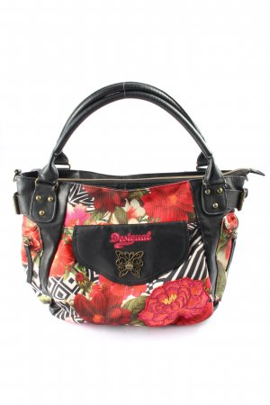 Desigual Canvas Bag red-white allover print casual look