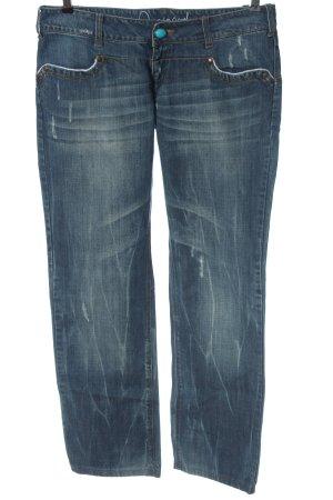 Desigual Jeansy z prostymi nogawkami niebieski W stylu casual