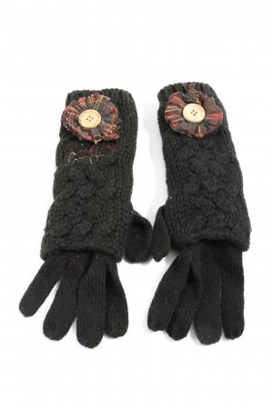 Desigual Knitted Gloves black casual look
