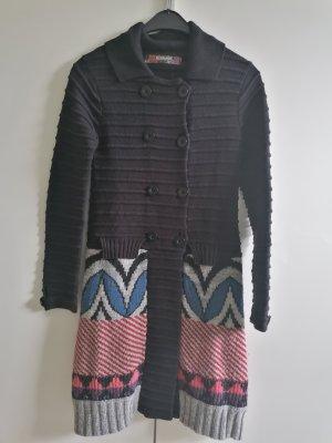 Desigual Knitted Coat black-light grey
