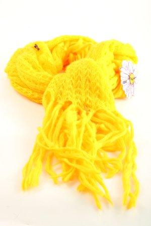Desigual Bufanda de punto amarillo pálido-blanco look casual