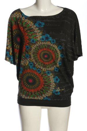 Desigual Koszulka z dzianiny khaki Nadruk z motywem W stylu casual