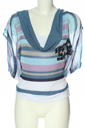 Desigual Knitted Jumper striped pattern casual look