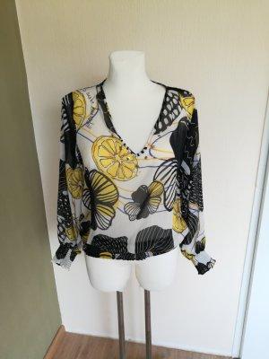 Desigual, Stylische Bluse mit Zitronneprint Gr 40