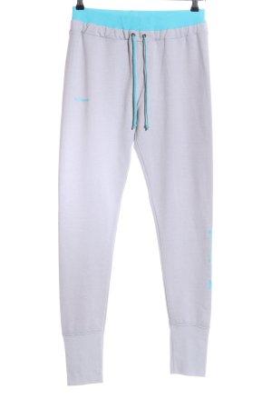 Desigual Pantalon de jogging gris clair-turquoise style athlétique