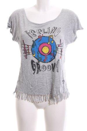 Desigual T-Shirt hellgrau-blau meliert Casual-Look