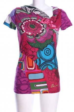 Desigual T-Shirt Allover-Druck Casual-Look
