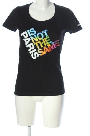 Desigual T-Shirt schwarz Schriftzug gedruckt Casual-Look