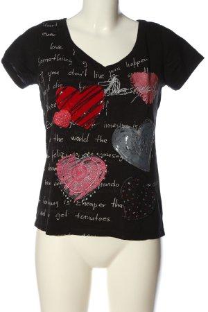 Desigual T-Shirt Motivdruck Casual-Look
