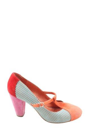 Desigual Zapatos de tacón con barra en T estampado a rayas look casual