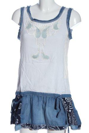 Desigual Trägerkleid weiß-blau Casual-Look
