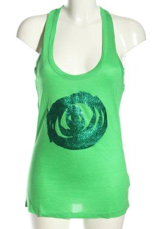 Desigual Trägertop grün Motivdruck Casual-Look