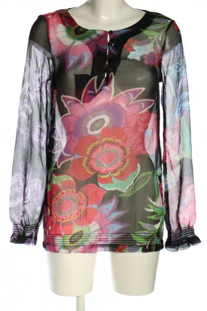 Desigual Transparenz-Bluse Allover-Druck Business-Look