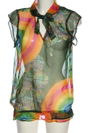 Desigual Blusa transparente Mezcla de patrones look casual