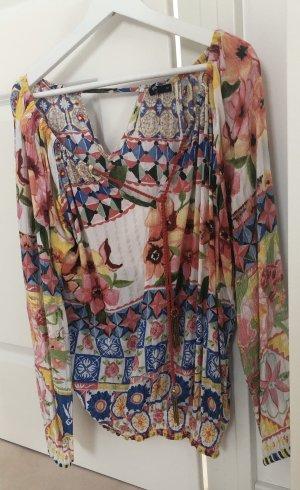 Desigual Blusa de túnica multicolor