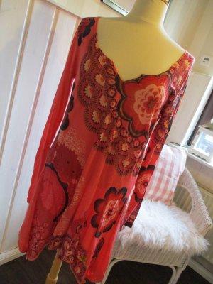 Desigual Camisa tipo túnica rojo Algodón