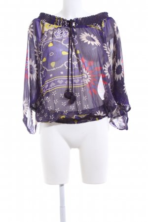 Desigual Tunikabluse Allover-Druck Casual-Look