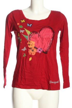 Desigual Boatneck Shirt themed print casual look