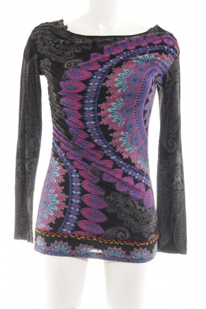 Desigual Boothalsshirt abstract patroon vintage uitstraling
