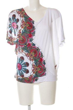 Desigual Boothalsshirt bloemenprint casual uitstraling