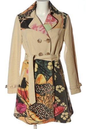 Desigual Manteau mi-saison motif de fleur style décontracté
