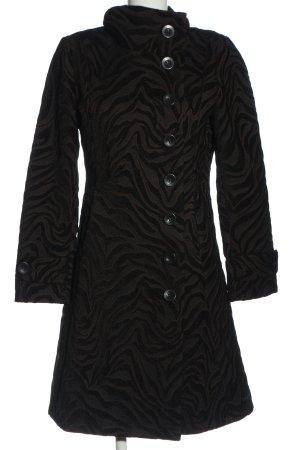 Desigual Übergangsmantel schwarz-braun Casual-Look