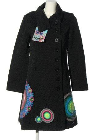 Desigual Between-Seasons-Coat themed print casual look