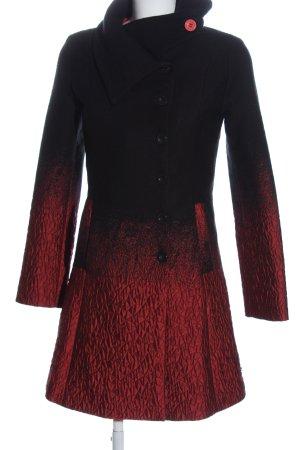 Desigual Übergangsmantel schwarz-rot Farbverlauf Casual-Look