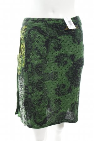 Desigual Falda cruzada verde-negro Viscosa