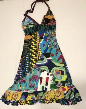 Desigual Vestido de cuello Halter multicolor