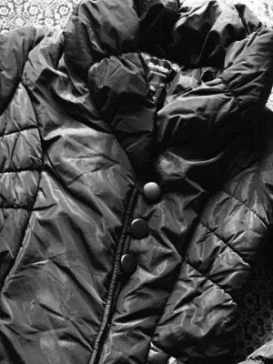 My Collection Cappotto trapuntato nero Tessuto misto