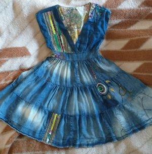 Desigual Vestido vaquero azul