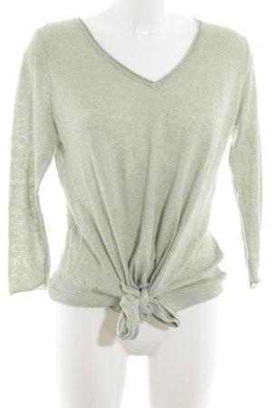 desires V-Ausschnitt-Pullover hellgrau Casual-Look