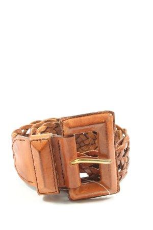 DESMO Braided Belt brown casual look