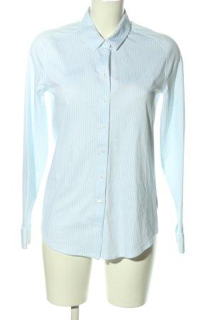 Desoto Langarmhemd blau-weiß Allover-Druck Casual-Look