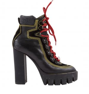 Platform Booties multicolored leather