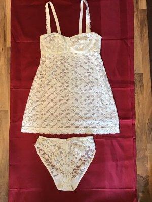 ae elegance Set lingerie bianco sporco