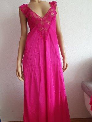 Dessous Nachtkleid mit Überjacke Neglice in Größe 42 pink