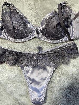 Lingerie Set grey violet-mauve