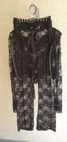 Ensemble de lingerie noir polyester