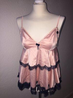 pleasure state Conjunto de lencería azul oscuro-rosa