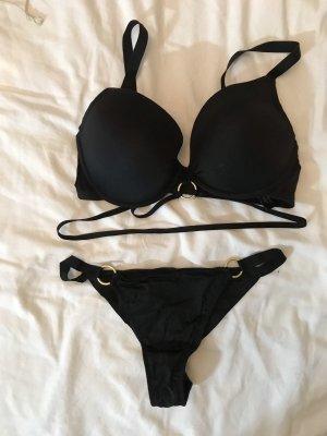 H&M Set lingerie nero-oro