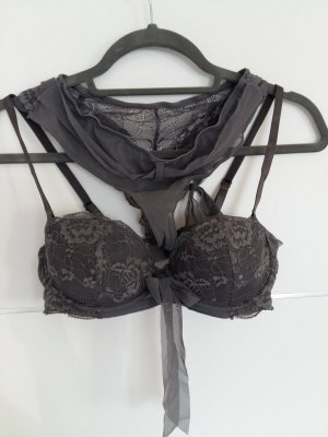 Lingerie Set silver-colored-grey